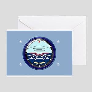Pilot Artificial Horizon Greeting Cards
