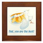 Pelican Dad Framed Tile