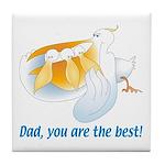 Pelican Dad Tile Coaster