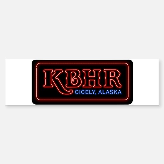 KBHR Neon Sign Bumper Bumper Bumper Sticker