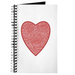 Red Heart Notepad