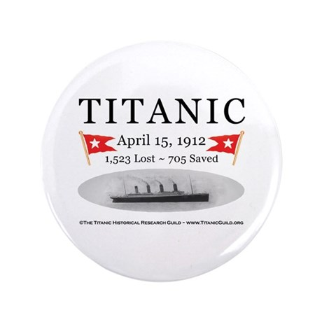 """Titanic Ghost Ship (white) 3.5"""" Button (100 pack)"""