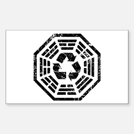 DHARMA Recycle Rectangle Decal