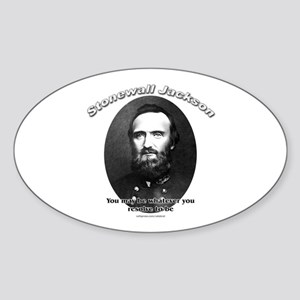 Stonewall Jackson 02 Oval Sticker