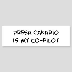 Co-pilot: Presa Canario Bumper Sticker