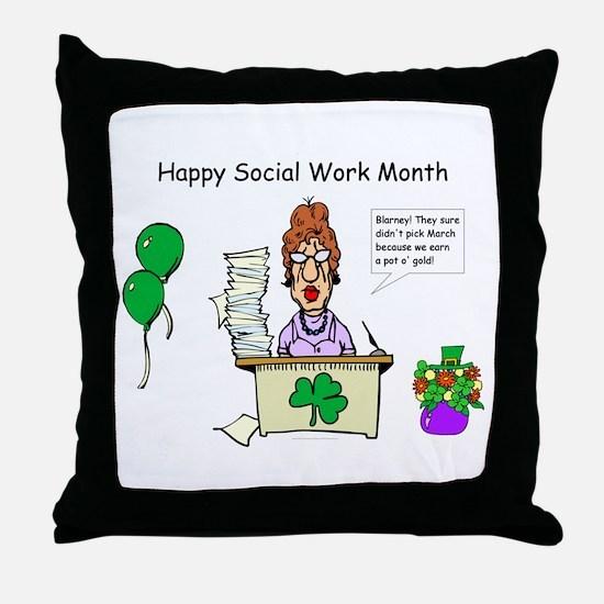 Social Work Month Desk2 Throw Pillow