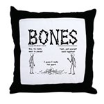 BONES Throw Pillow