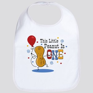 Little Peanut 1st Birthday Bib