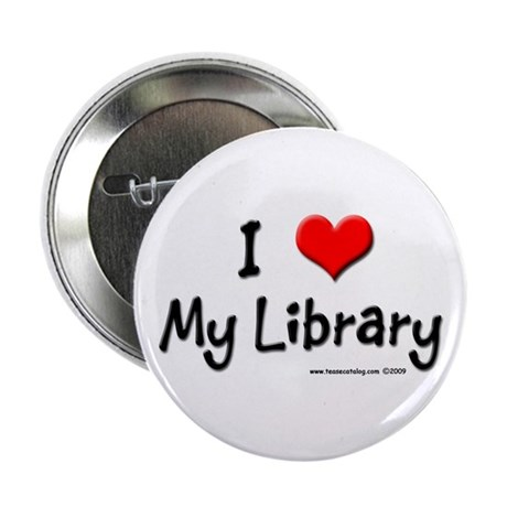 """I luv my Library 2.25"""" Button (10 pack)"""