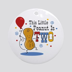Little Peanut 2nd Birthday Ornament (Round)