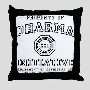 Property of DHARMA Throw Pillow