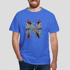 Dark T-Shirt monogram letter N