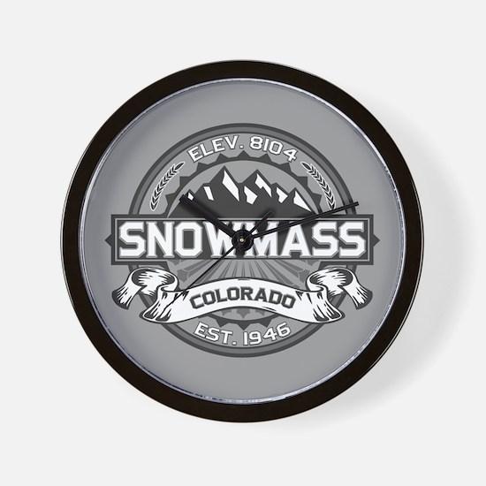 Snowmass Grey Wall Clock