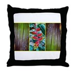 exotic tropical plants/flowers Throw Pillow