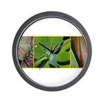 exotic tropical plants/flowers Wall Clock