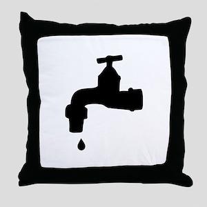 Faucet Throw Pillow