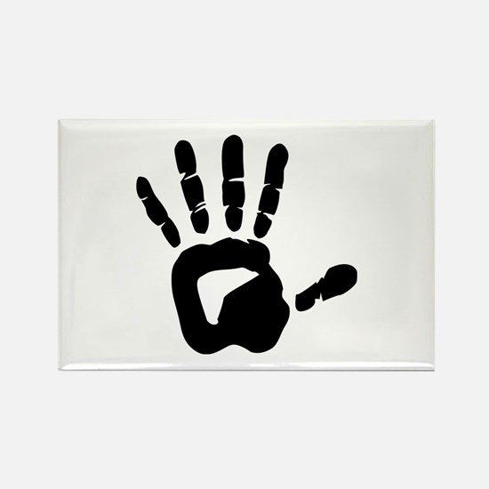 Hand Rectangle Magnet (100 pack)