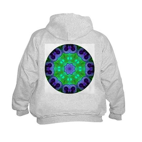 Crystalline Mandala Kids Hoodie