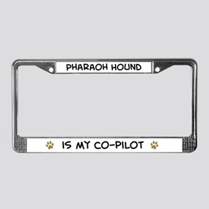 Co-pilot: Pharaoh Hound License Plate Frame