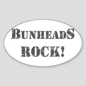 Bunheads Rock Sticker (Oval)