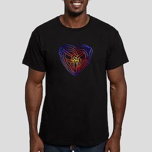 Rainbow Celtic Heart Men's Fitted T-Shirt (dark)