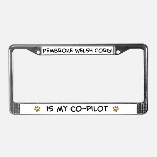 Co-pilot: Pembroke Welsh Corg License Plate Frame