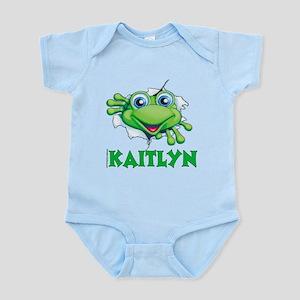 Kaitlyn Frog tearing out Infant Bodysuit
