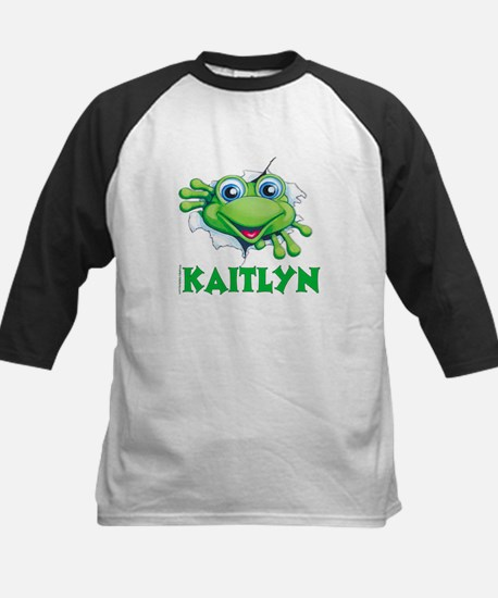 Kaitlyn Frog tearing out Kids Baseball Jersey