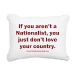 White Nationalist Rectangular Canvas Pillow