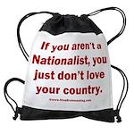 White Nationalist Drawstring Bag