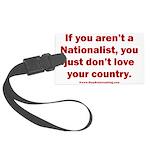 White Nationalist Large Luggage Tag