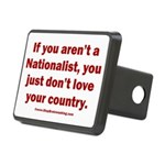White Nationalist Rectangular Hitch Cover