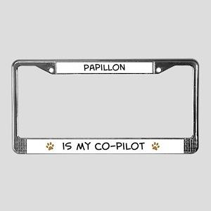 Co-pilot: Papillon License Plate Frame