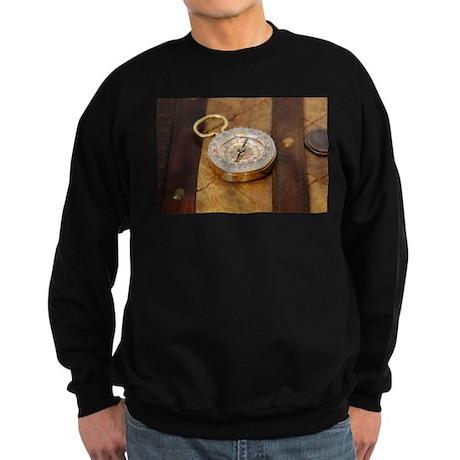 Compass on Luggage Sweatshirt (dark)
