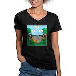 Rookie Mistake Women's V-Neck Dark T-Shirt