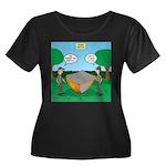Rookie M Women's Plus Size Scoop Neck Dark T-Shirt