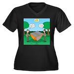 Rookie Mista Women's Plus Size V-Neck Dark T-Shirt