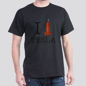 I (Heart/Coil) Tesla Dark T-Shirt