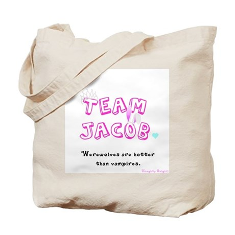 Twilight Team Jacob tote bag