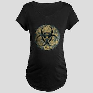 Biohazard -Circle -dist Maternity Dark T-Shirt