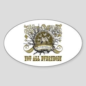 Lost Band Drive Shaft Grunge Sticker (Oval)
