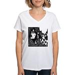 The Peacock Women's V-Neck T-Shirt