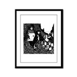 The Peacock Framed Panel Print