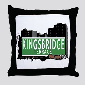 KINGSBRIDGE TER, Bronx, NYC Throw Pillow