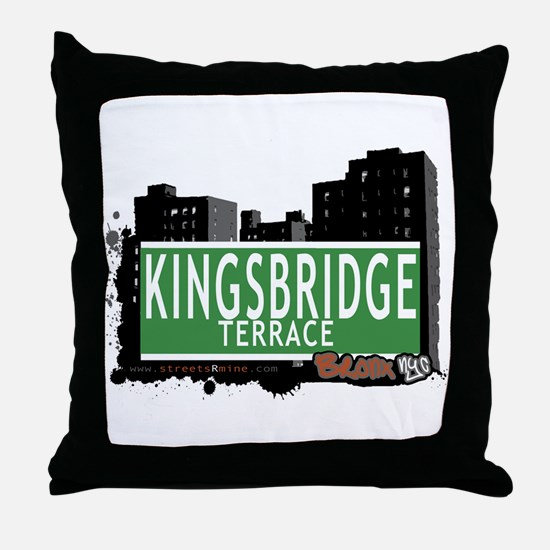 KINGSBRIDGE TER, Bronx, NYC Throw Pillow