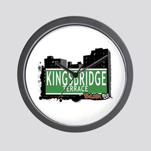 KINGSBRIDGE TER, Bronx, NYC Wall Clock