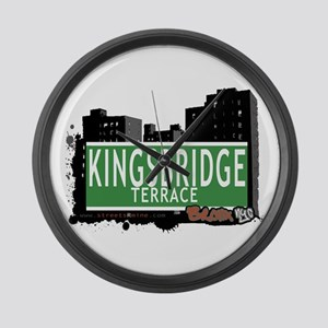 KINGSBRIDGE TER, Bronx, NYC Large Wall Clock
