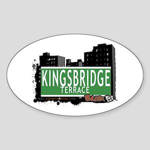 KINGSBRIDGE TER, Bronx, NYC Sticker (Oval)