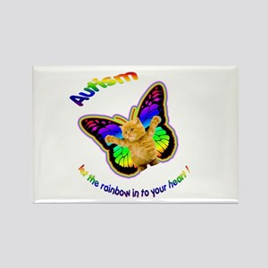 Autism let the rainbow in to Rectangle Magnet