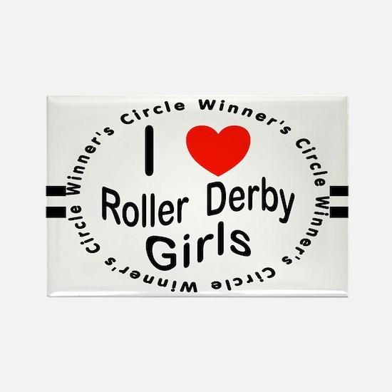Roller Derby Rectangle Magnet
